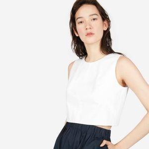 Women's White The Clean Cotton Crop Tank